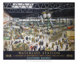 Waterloo Station, War, SR, c.1948
