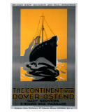 The Continent via Dover, Ostend, Belgian State Railways, c.1920s