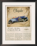 Chrysler, Magazine Advertisement, USA, 1928