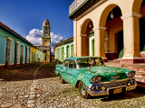 Old Worn 1958 Classic Chevy, Trinidad, Cuba