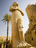 Colossus of Ramses Ii and a Favorite Daughter in Karnak Temple, Luxor, Egypt