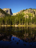 Hallet Peak Reflected in Dream Lake, Rocky Mountain National Park, Colorado, USA