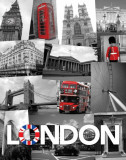London (Collage) Mini Poster