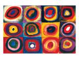 Color Study of Squares Premium Giclee Print