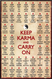 KEEP KARMA & CARRY ON