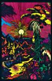 Lost Horizon Timberwolves Flocked Blacklight Poster