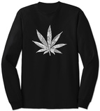 Long Sleeve: Marijuana Leaf