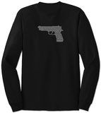 Long Sleeve: Gun created out of 2nd Amendment