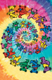 Grateful Dead - Spiral Bears Giant Poster