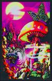 Magic Valley Satio Pin-up Blacklight Poster Moonlit Pirate Ghost Ship Blacklight Poster Art Print Lost Horizon Timberwolves Flocked Blacklight Poster