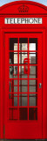 London - Telephone Box Door Poster