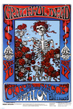 Family Dog - Grateful Dead - Skeleton & Roses Poster