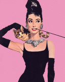 Audrey Hepburn - Pink Mini Poster