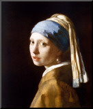 Girl with a Pearl Earring Mounted Print