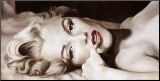 Reclined Marilyn Mounted Print