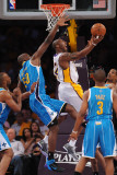 New Orleans Hornets v Los Angeles Lakers - Game One, Los Angeles, CA - April 17: Kobe Bryant and Em