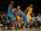 New Orleans Hornets v Los Angeles Lakers - Game Five, Los Angeles, CA - April 26: Chris Paul, Emeka