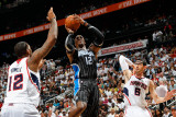 Orlando Magic v Atlanta Hawks - Game Four, Atlanta, GA - April 24: Dwight Howard, Kirk Hinrich and