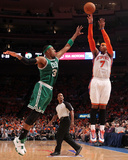 Boston Celtics v New York Knicks - Game Four, New York, NY - April 24: Carmelo Anthony and Paul Pie