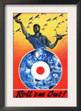 Canada - Roll 'em Out Royal Canadian Air Force WWII Propaganda Poster - Framed Art Print