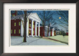 Lexington, VA, Exterior View of Washington, Lee University at Night during Winter
