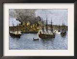 Destruction of Falmouth, Maine by Artillery Fire from British Ships, October 1775