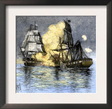 USS Frigate Chesapeake Engaging the British Ship Shannon, War of 1812