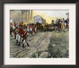 British Wagon-Train Ambushed by Francis Marion in South Carolina during the Revolutionary War