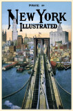 New York Illustrated Brooklyn Bridge