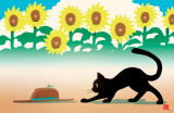 Ryo Takagi Cat and Hat Sunflowers