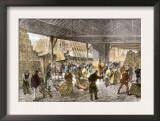 Unloading Tea-Ships in the British East India Company's Docks, London, c.1860