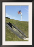 U.S. Flag with Fifteen Stars over Fort Moultrie, Charleston Harbor, South Carolina