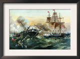 Naval Duel Between the Frigate USS Constitution and the British Ship Guerriere, War of 1812