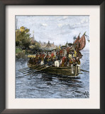 Last Boatload of British Troops Evacuating New York City, c.1783