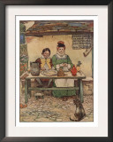 Illustration From Little Jack Sprat Of Couple Eating
