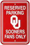 University of Oklahoma Parking Sign