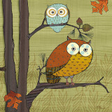 Awesome Owls I Art Print