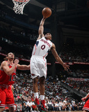 Chicago Bulls v Atlanta Hawks - Game Four,  ATLANTA - MAY 8: Jeff Teague and Joakim Noah Photographic Print