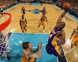 Los Angeles Lakers v New Orleans Hornets - Game Three, New Orleans, LA - APRIL 22: Kobe Bryant and