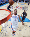 Memphis Grizzlies v Oklahoma City Thunder - Game Two, Oklahoma City, OK - MAY 3: Russell Westbrook  Photographic Print