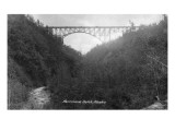 Buy Alaska - View of Hurricane Gulch Bridge at AllPosters.com