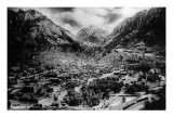 Ouray, Colorado - Panoramic View of Town, Mt Abram