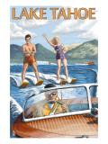 Lake Tahoe, California - Water Skiing Scene Art Print