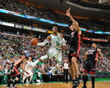 Miami Heat v Boston Celtics - Game Four, Boston, MA - MAY 9: Rajon Rondo and Zydrunas Ilgauskas