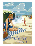 Long Beach Island, New Jersey Beach Scene