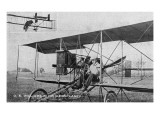 O E Williams in His Aeroplane