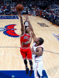 Chicago Bulls v Atlanta Hawks - Game Four, Atlanta, GA - MAY 8: Al Horford and Derrick Rose Photographic Print