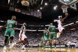Boston Celtics v Miami Heat - Game Five, Miami, FL - MAY 11: Dwyane Wade and Glen Davis