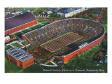 Minneapolis, Minnesota - University of Minnesota; Memorial Stadium Aerial