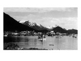Sitka, Alaska - View of Town from Water